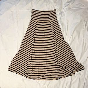 Striped Gap Maxi Skirt